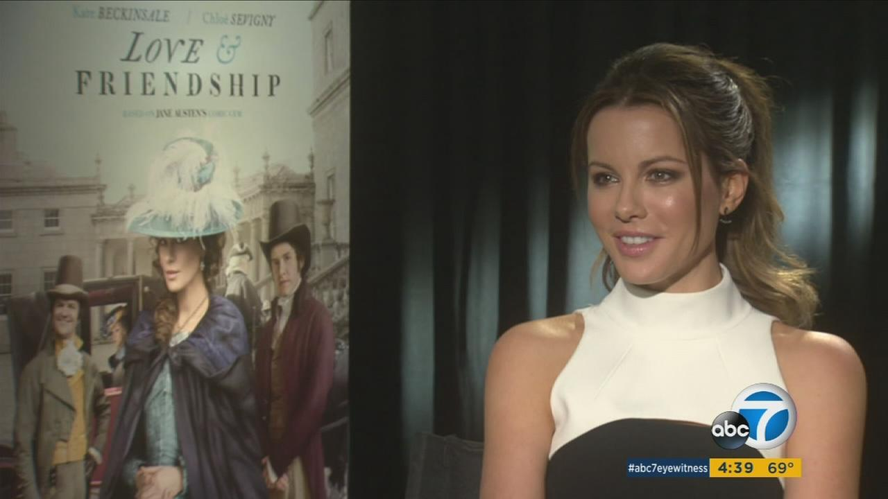 Kate Beckinsale talks about her new movie Love and Friendship.