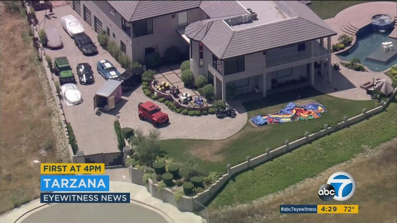 Singer Chris Browns house in Tarzana has several ATVs parked outside that neighbors say he has used to cause a disturbance.