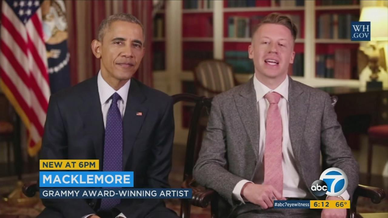 President Obama talks opioid epidemic with Macklemore in MTV documentary