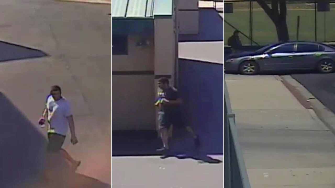 A man who students say stripped naked in the girls locker room in Moorpark High School two days in a row is spotted in surveillance footage.