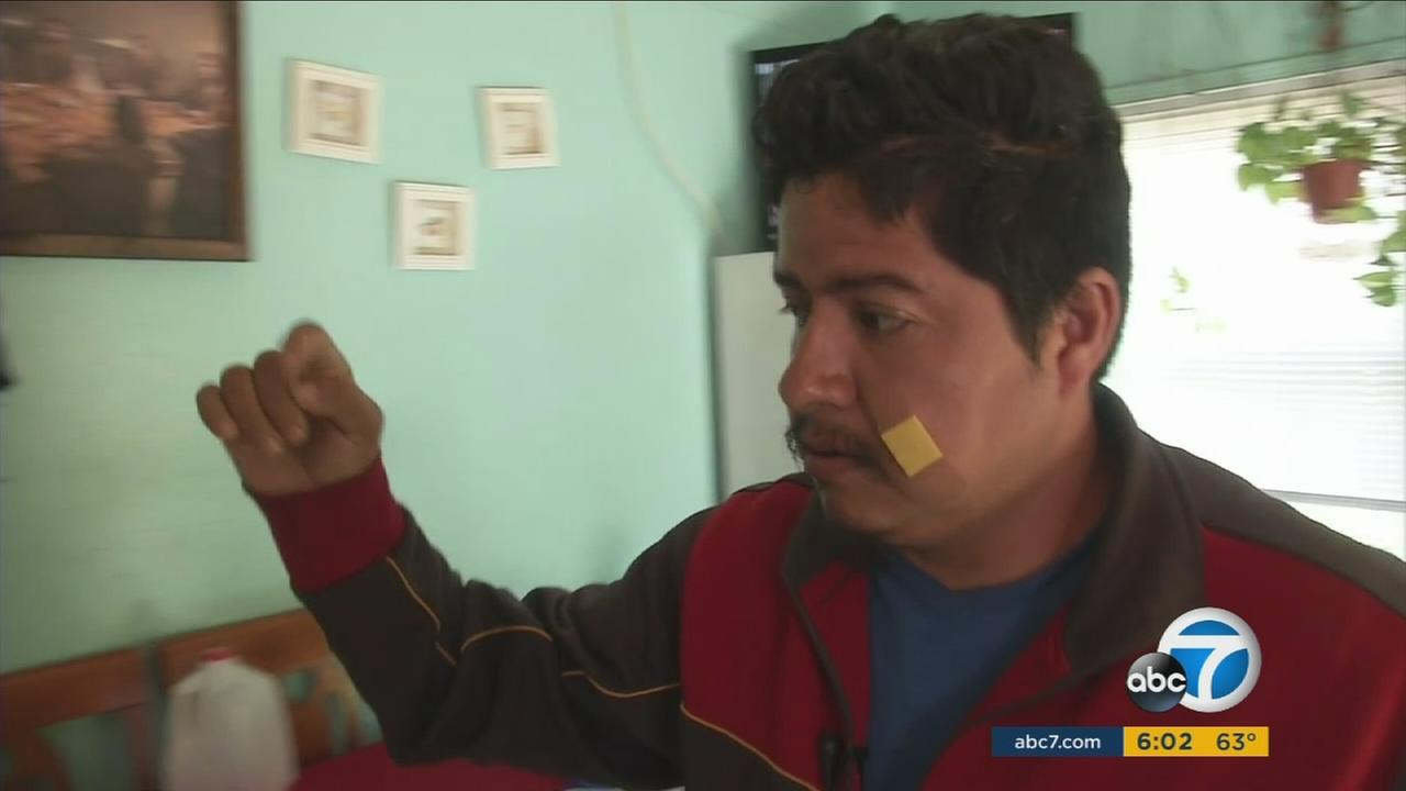 A family in El Modena remains on edge after an armed robber held a mother at knifepoint on Wednesday, May 18, 2016.