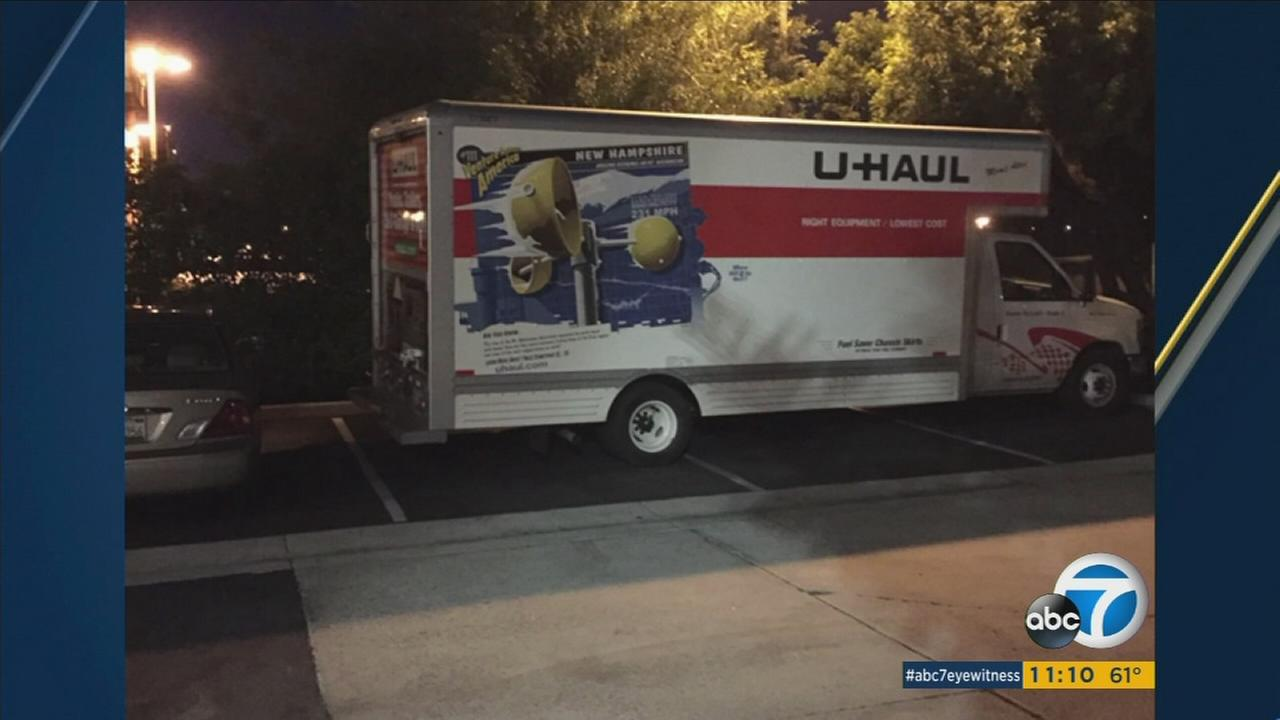 The Beaumont family, who was moving from Sacramento to Arizona, had their U-Haul containing all their belongings stolen at the La Quinta Inn in Santa Ana on Monday, May 23, 2016.
