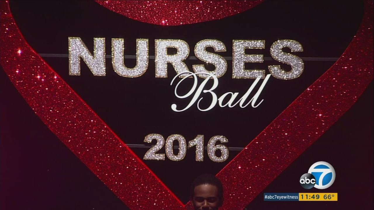 A sign for the 2016 Nurses Ball is seen on General Hospital.