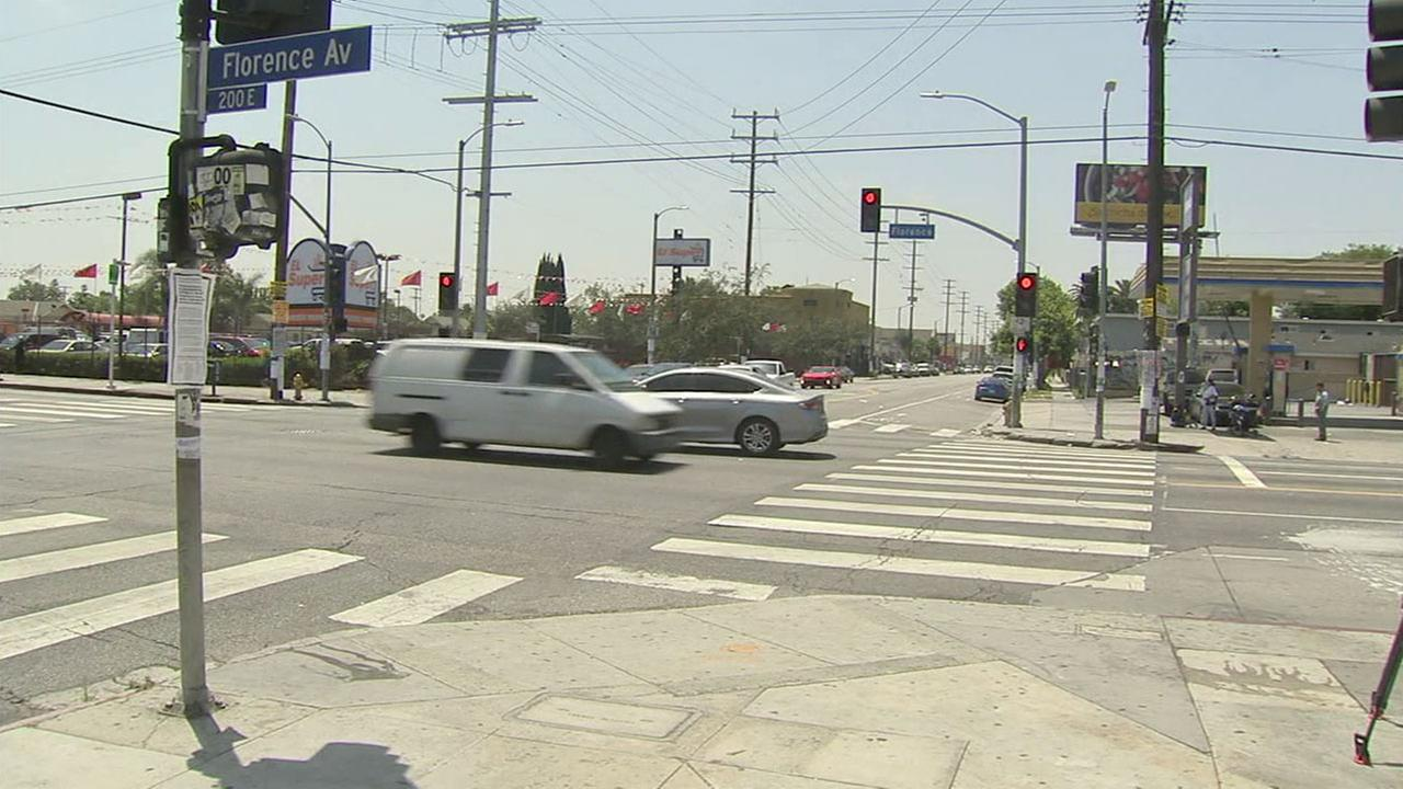 One of several dangerous intersections in Los Angeles is shown on Friday, May 27, 2016.