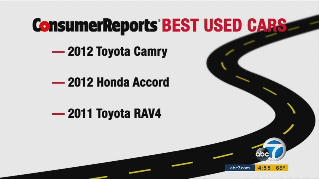 A Consumer Reports list of the top used-cars in 2016.