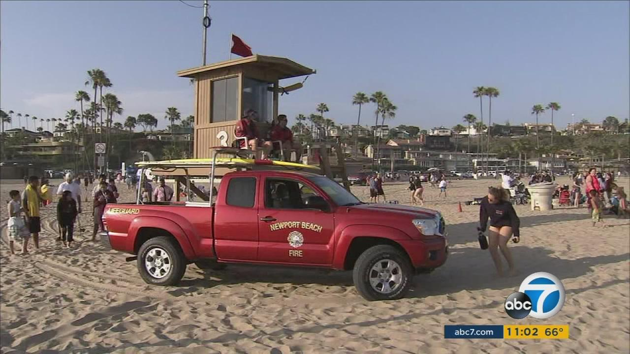 A stretch of Newport Beach remains closed to the public Monday after a possible shark attack was reported Sunday.