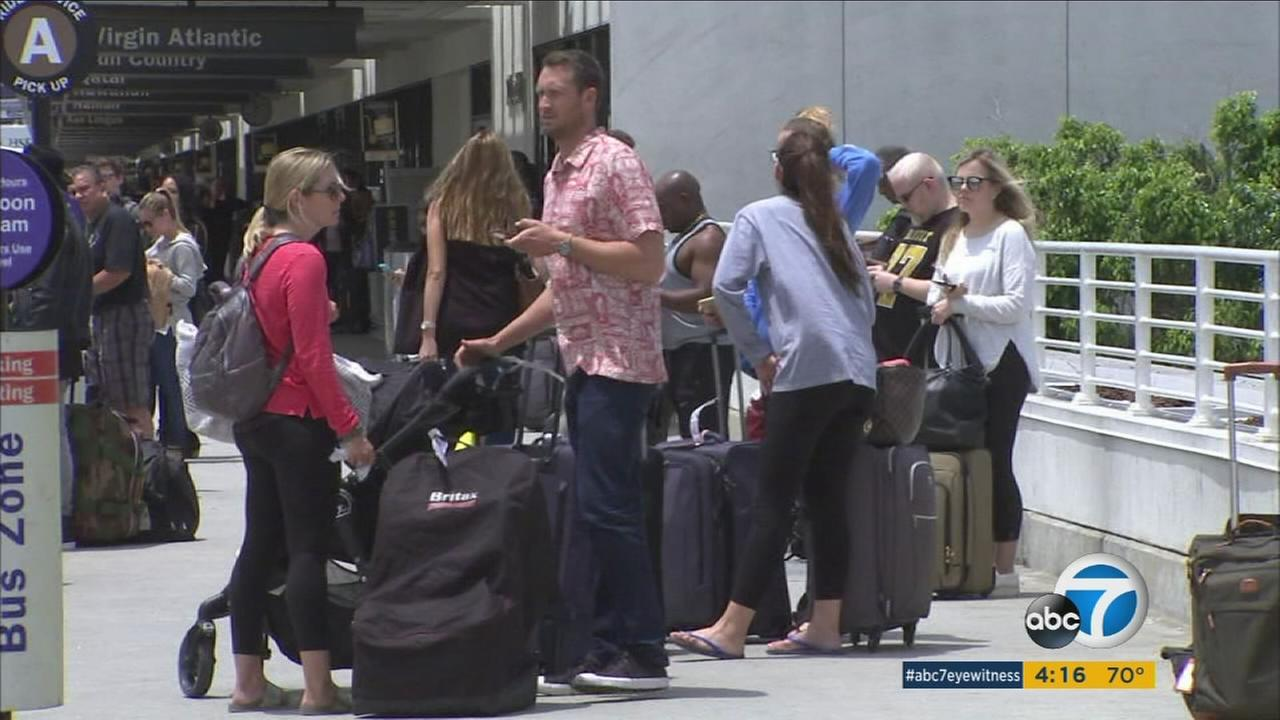 Lines at LAX were shorter Monday, in contrast to the long waits that travelers had to endure Friday as they left town for the Memorial Day weekend.