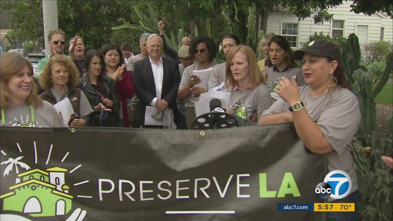 Los Angeles activists are pushing for a ballot measure that would put new restrictions on development.