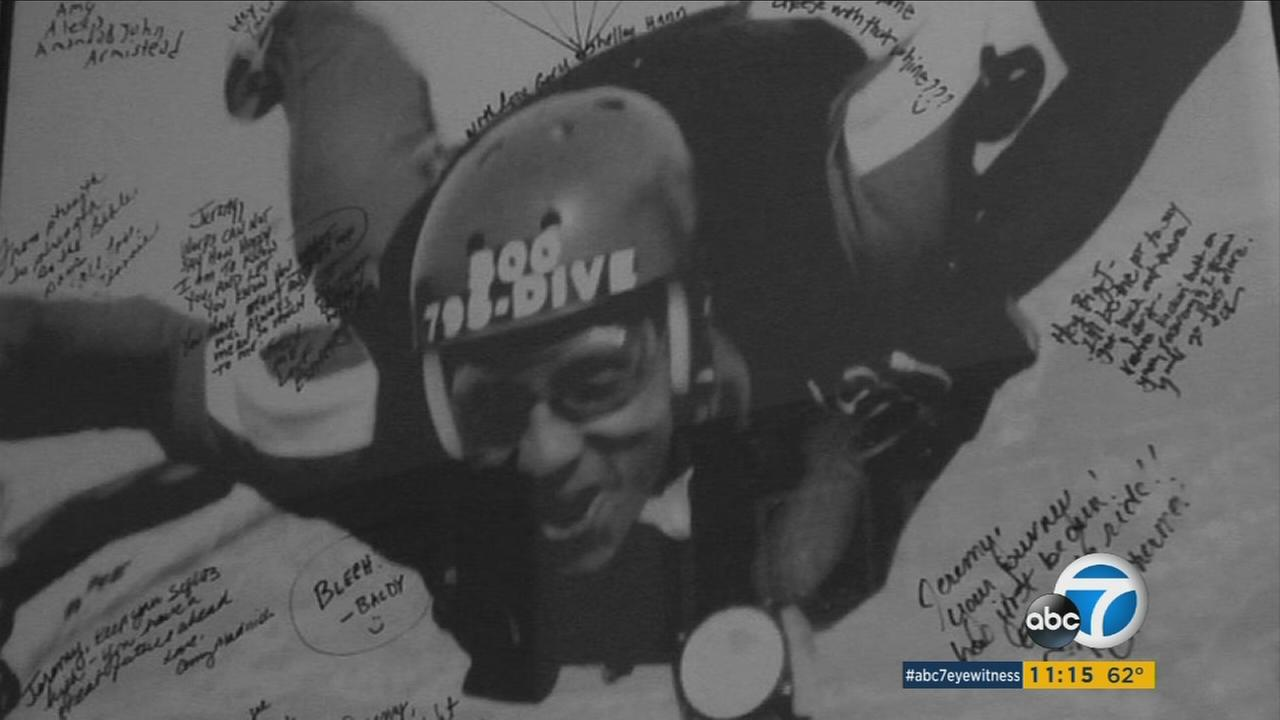 Jeremy Newman is shown in an undated skydiving photo.
