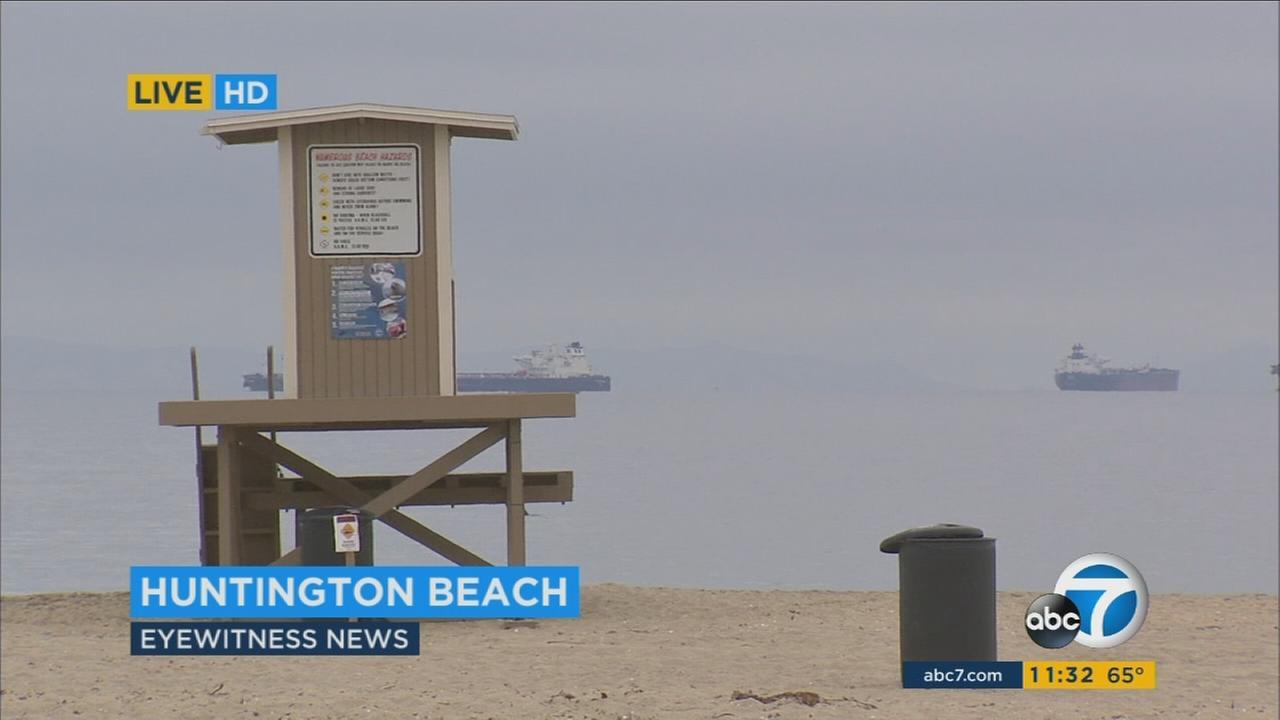 Sunset Beach in Huntington Beach.