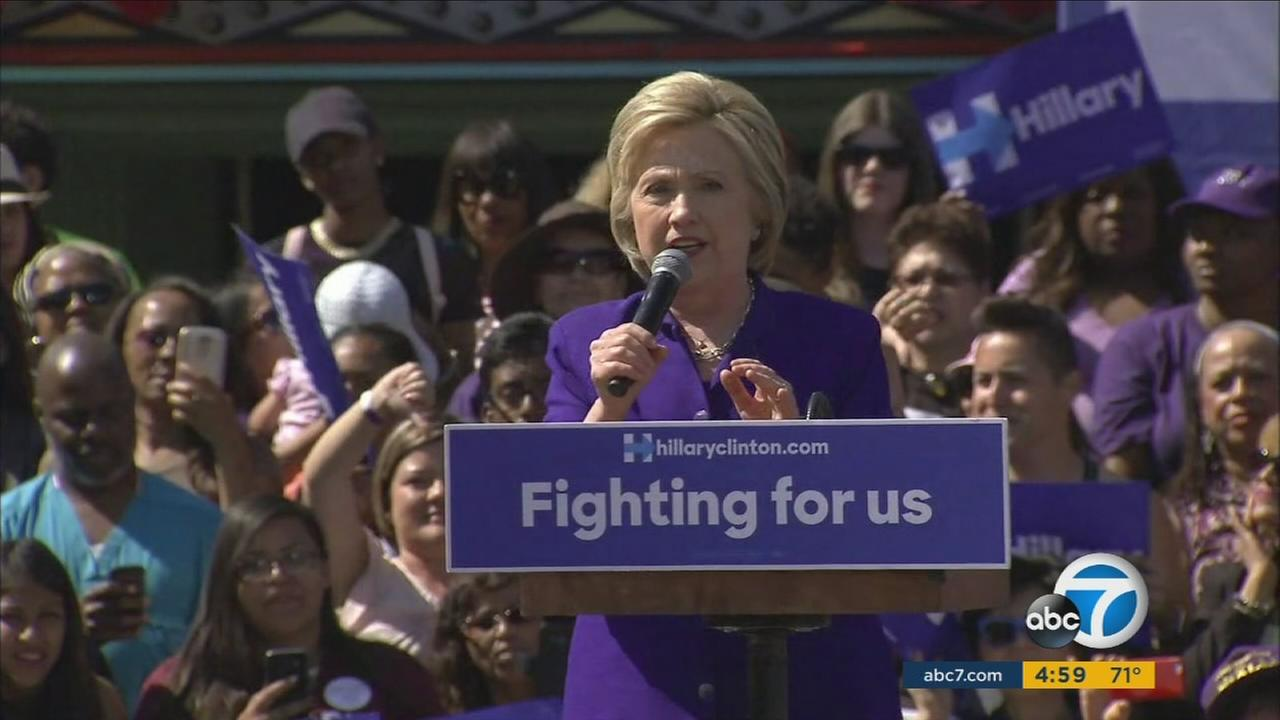 Hillary Clinton held several rallies across Southern California, including Lynwood, Leimert Park and Long Beach on the eve of the California primary.