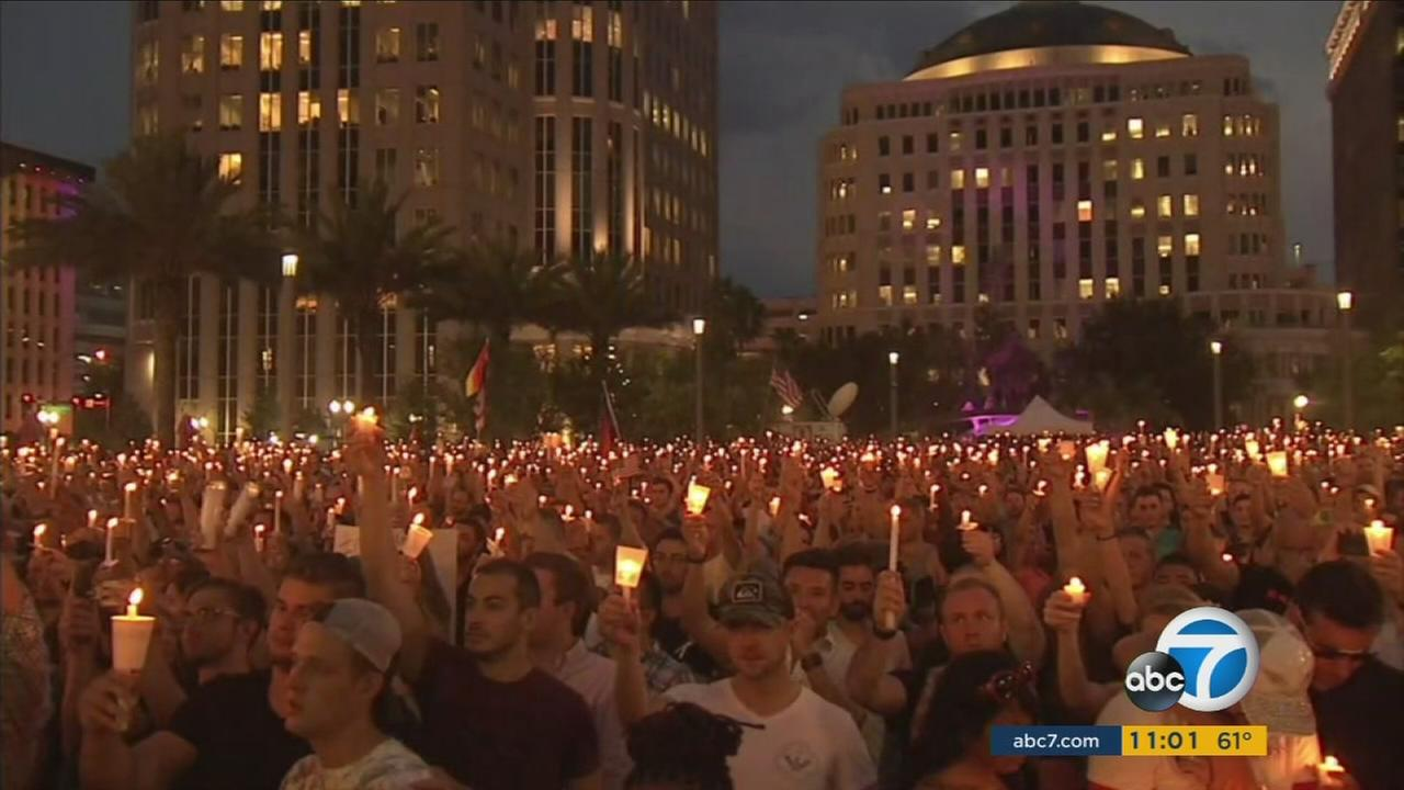 Thousands attended a vigil in Orlando to mourn the victims loss during the mass shooting at the gay nightclub Pulse the morning of Sunday, June 12, 2016.