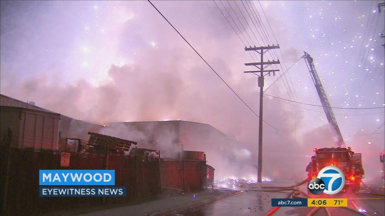 After a recycling yard fire in Maywood forced hundreds of evacuations, ash and residue at homes will be tested to determine if its safe for residents to return.
