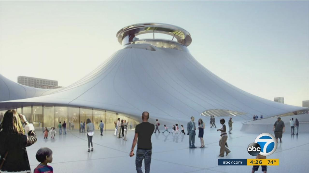 A rendering of the Lucas Museum of Narrative Art.