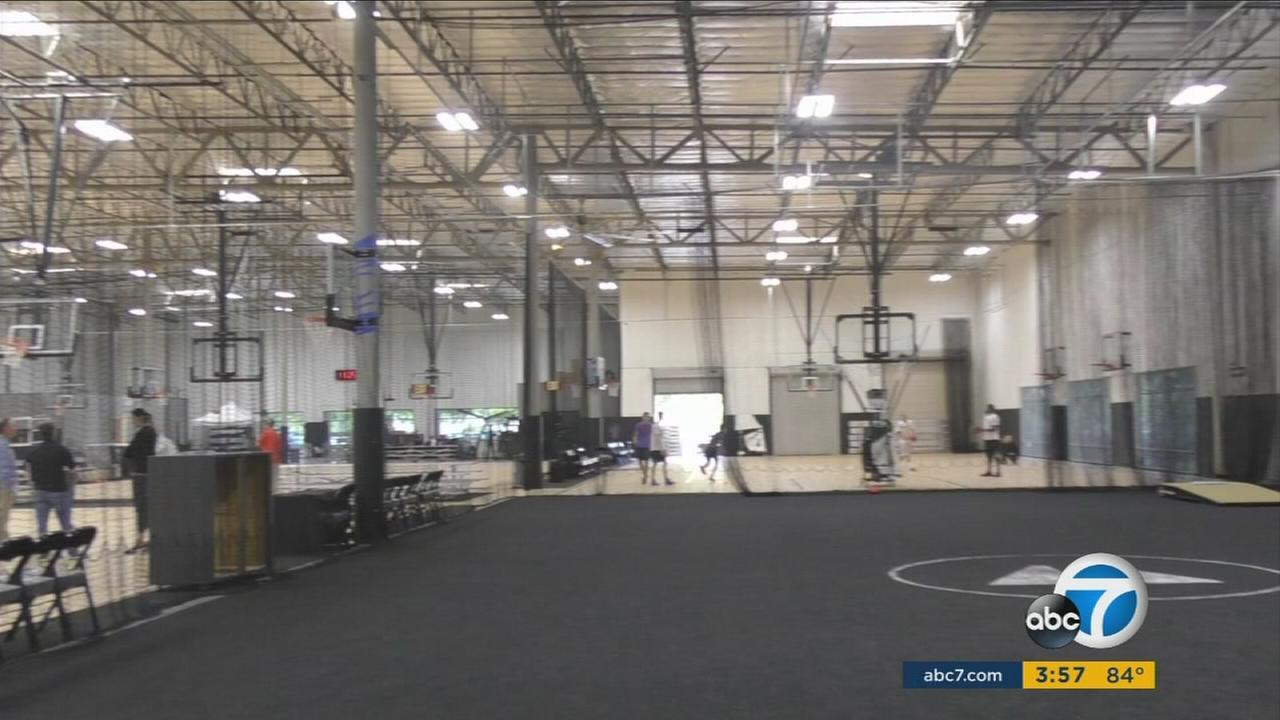 The 97,000-square-foot Sports Academy in Newbury Park offers everything for pro and amateur athletes, from volleyball and soccer to hand-eye coordination tests and an Olympic-style track.
