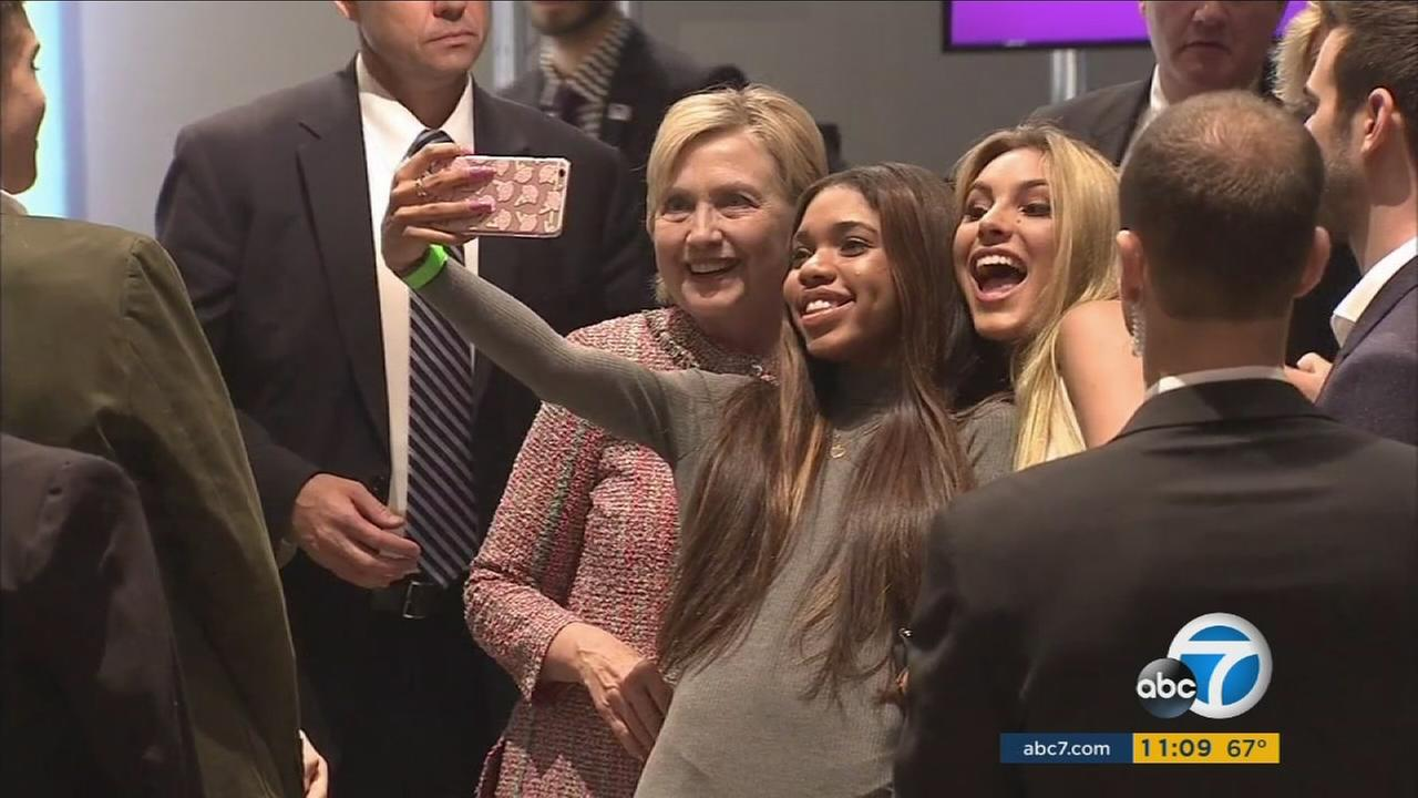 Presidential nominee Hillary Clinton appeared at a town hall event in Hollywood with digital influencers on Tuesday, June 28, 2016.