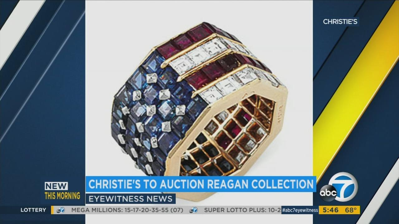 A ring belonging to Ronald and Nancy Reagan that is to be auctioned off by Christies.