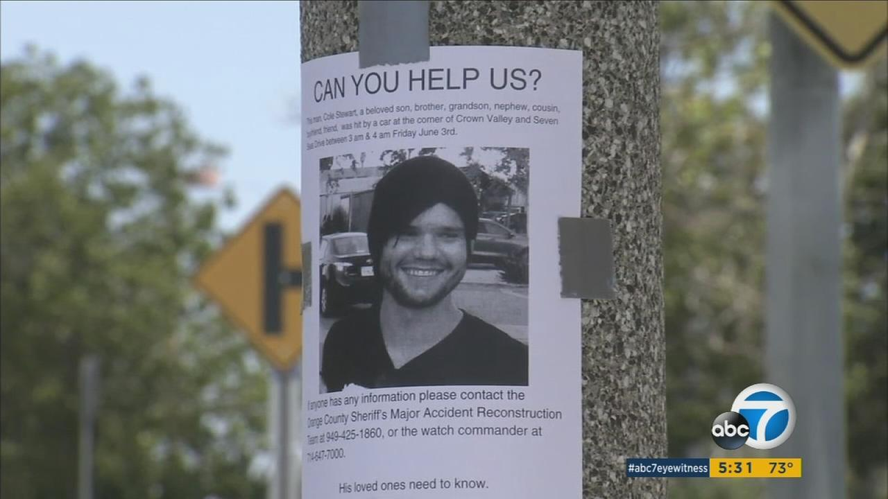 The family of 22-year-old Cole Stewart is hoping someone will come forward with information about his hit-and-run death in Dana Point on June 3.