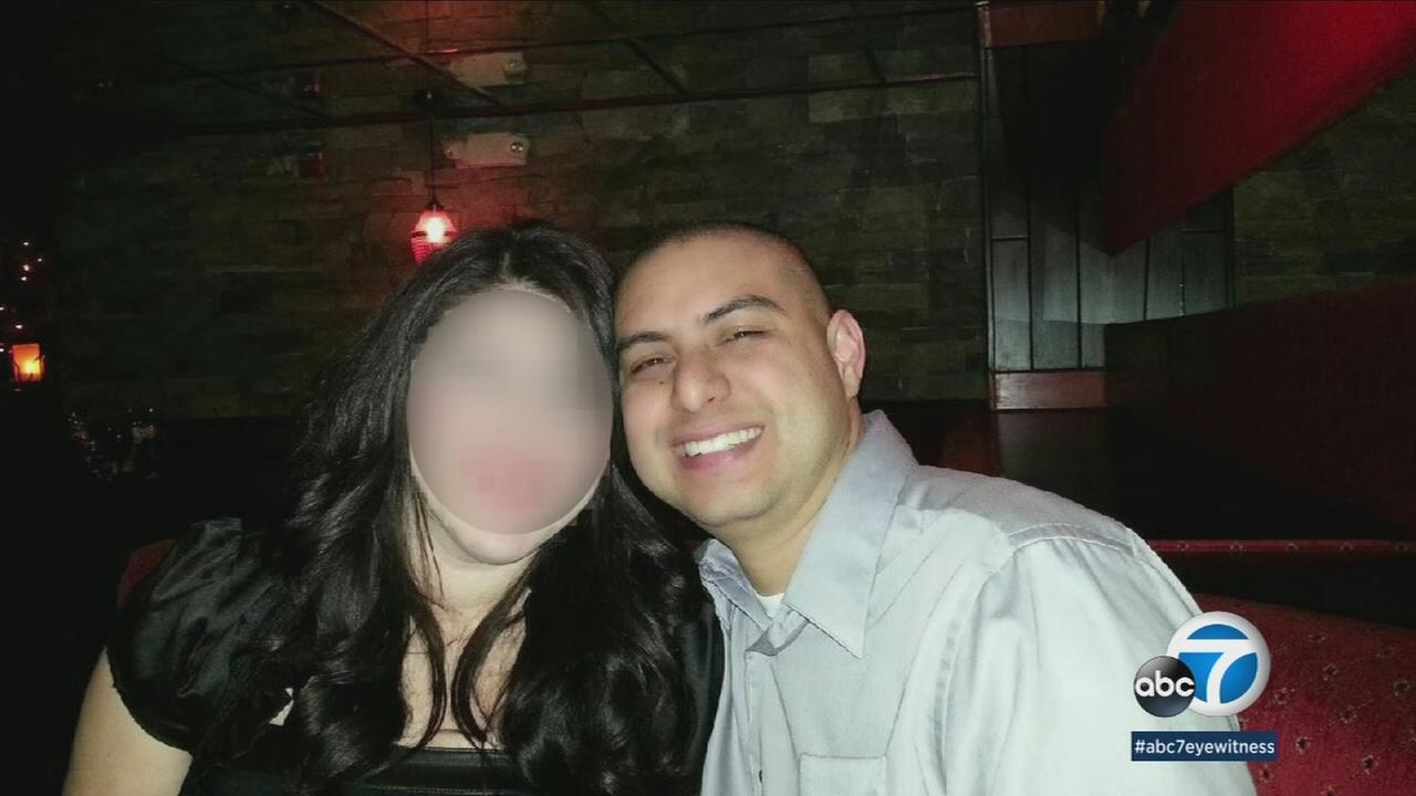 Maria is shown alongside Los Angeles County sheriffs deputy Alejandro Flores in an undated photo.