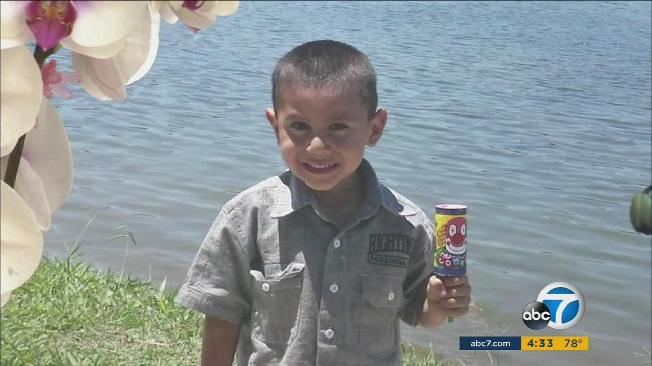 Salvador Esparza III, 4, was shot and killed at a home in the 300 block of Figueroa Drive in Altadena the evening of Tuesday, July 5, 2016.