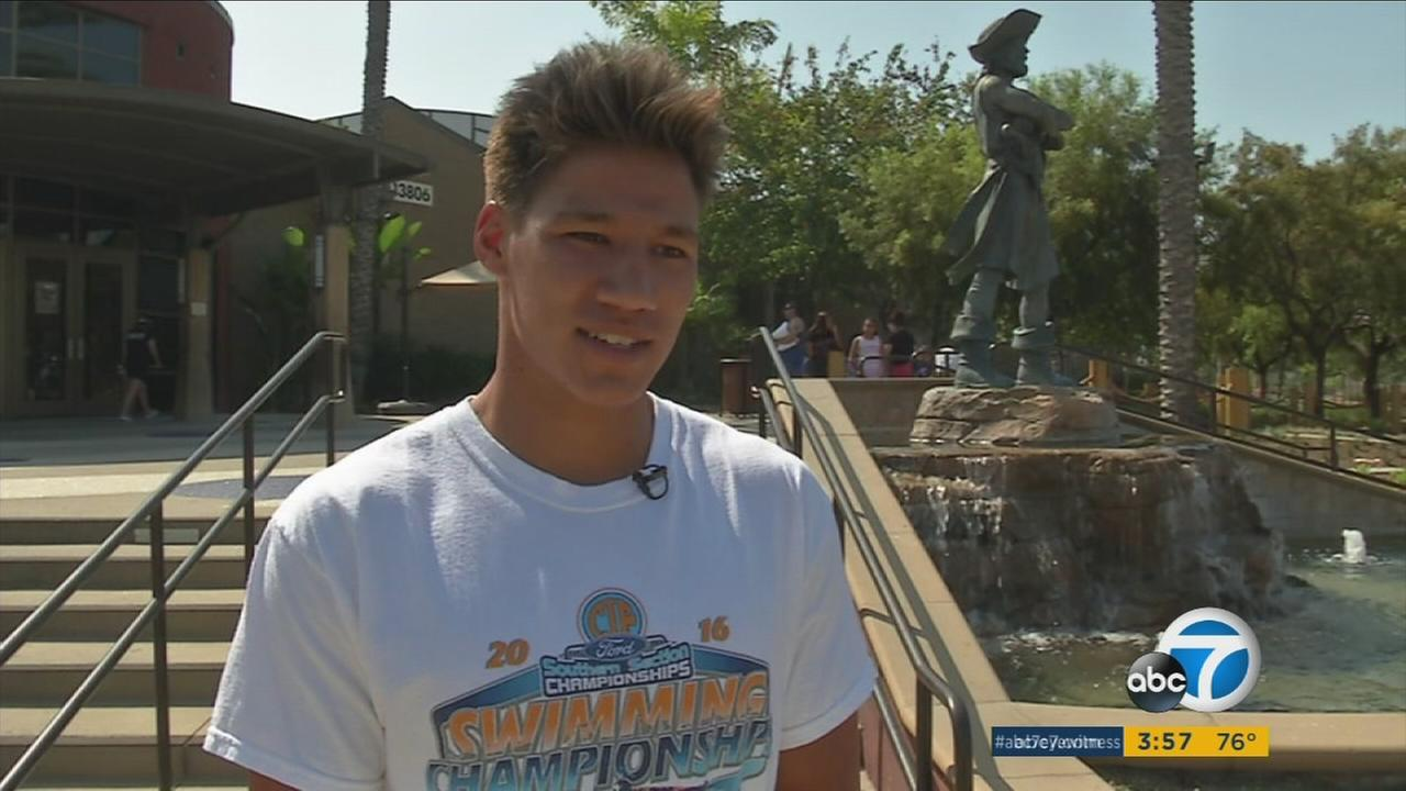Cool Kid Tanner Henkhaus is shown during an interview in Fullerton.