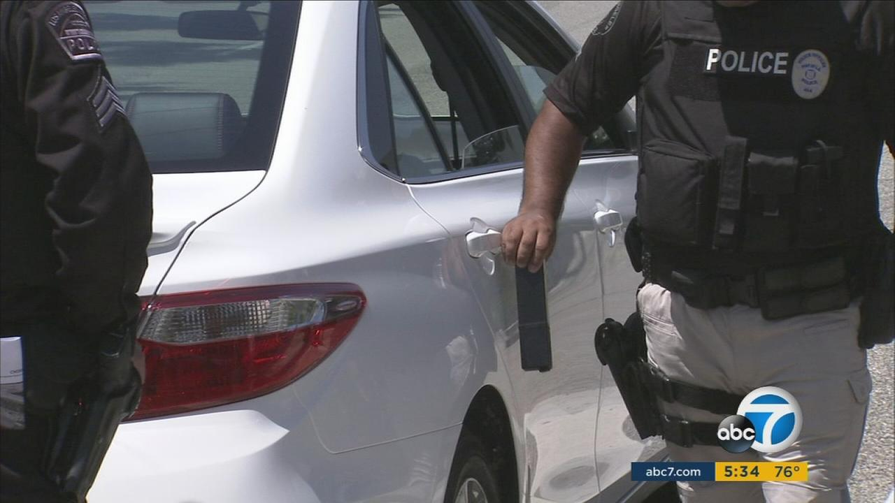 Hundreds of radiation monitors in use at LAX were demonstrated in a joint exercise Friday.