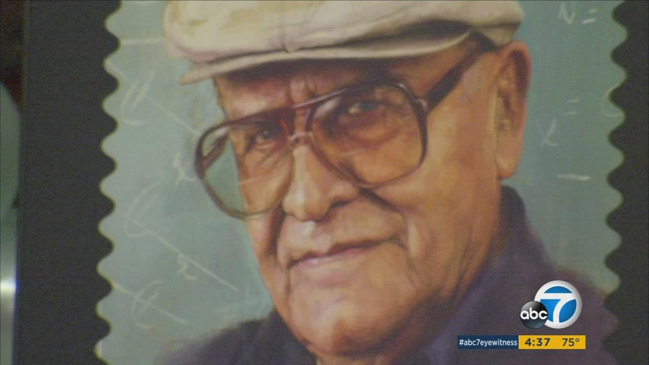 Friends, family and fans of legendary educator Jaime Escalante - portrayed in the film Stand and Deliver - celebrated the new postal stamp in his honor at Garfield High School.