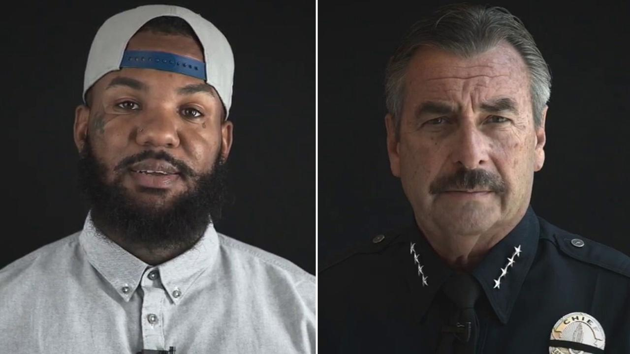 Rapper The Game and LAPD Chief Charlie Beck teamed up to help promote the end of gun violence in Los Angeles.