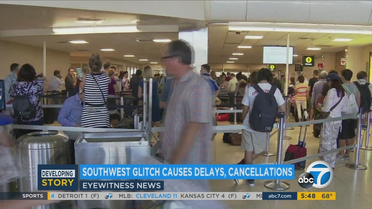 Southwest Airlines jets were flying again on Thursday but delays continued as crews continued to manage flight disruptions caused by a computer glitch on Wednesday.
