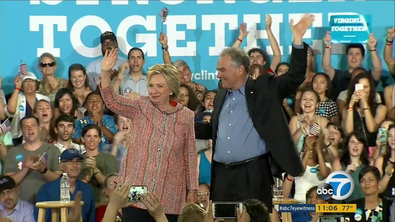 Hillary Clinton announced that Virginia Sen. Tim Kaine will join her on the Democratic ticket as her vice presidential running mate.