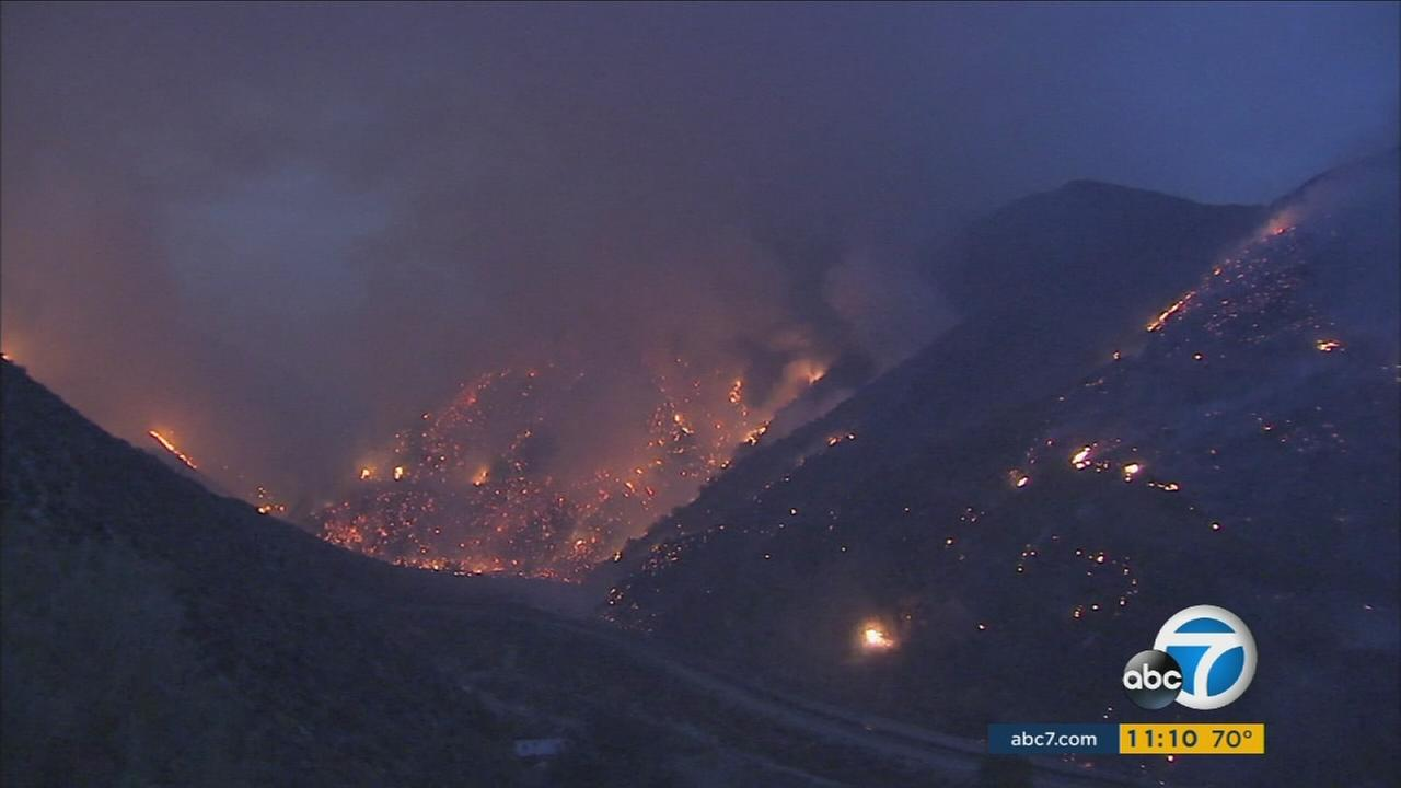 The Sand Fire has charred more than 37,000 acres in northern Los Angeles County and only been 25 percent contained.