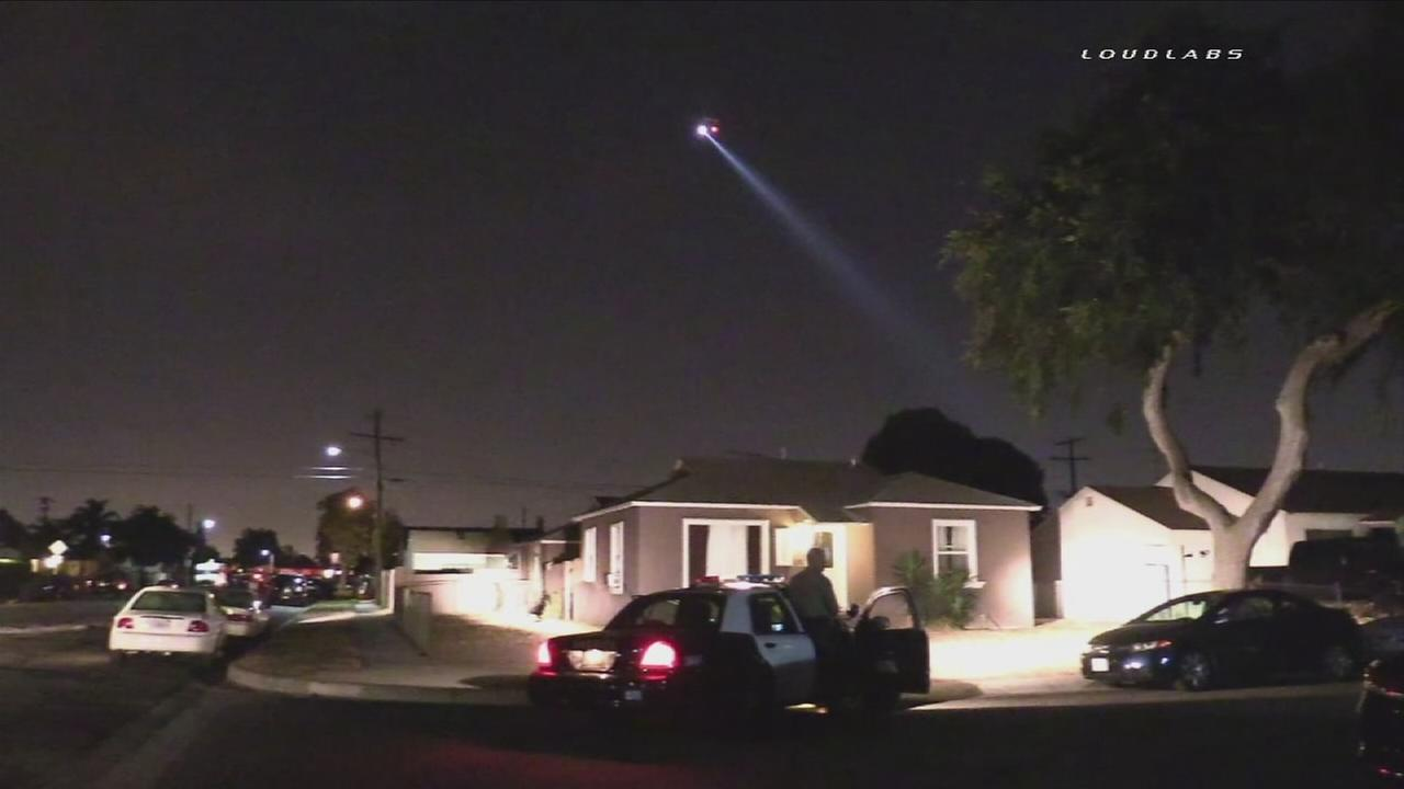 Authorities searched for a barricaded suspect in a Compton neighborhood on Thursday, July 28, 2016.