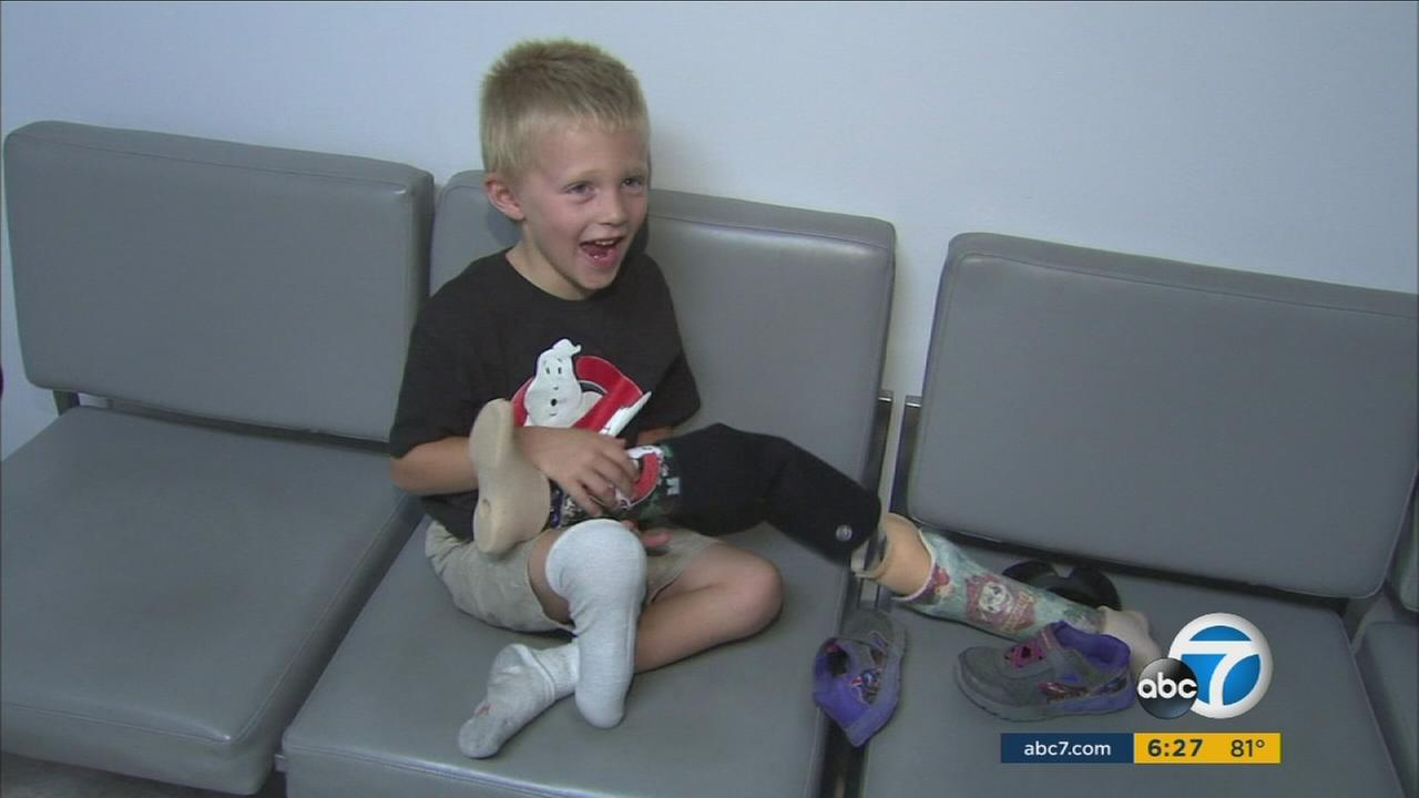 It was a happy ending on Thursday for a 4-year old boy whose prosthetic leg was stolen at an Orange County beach.