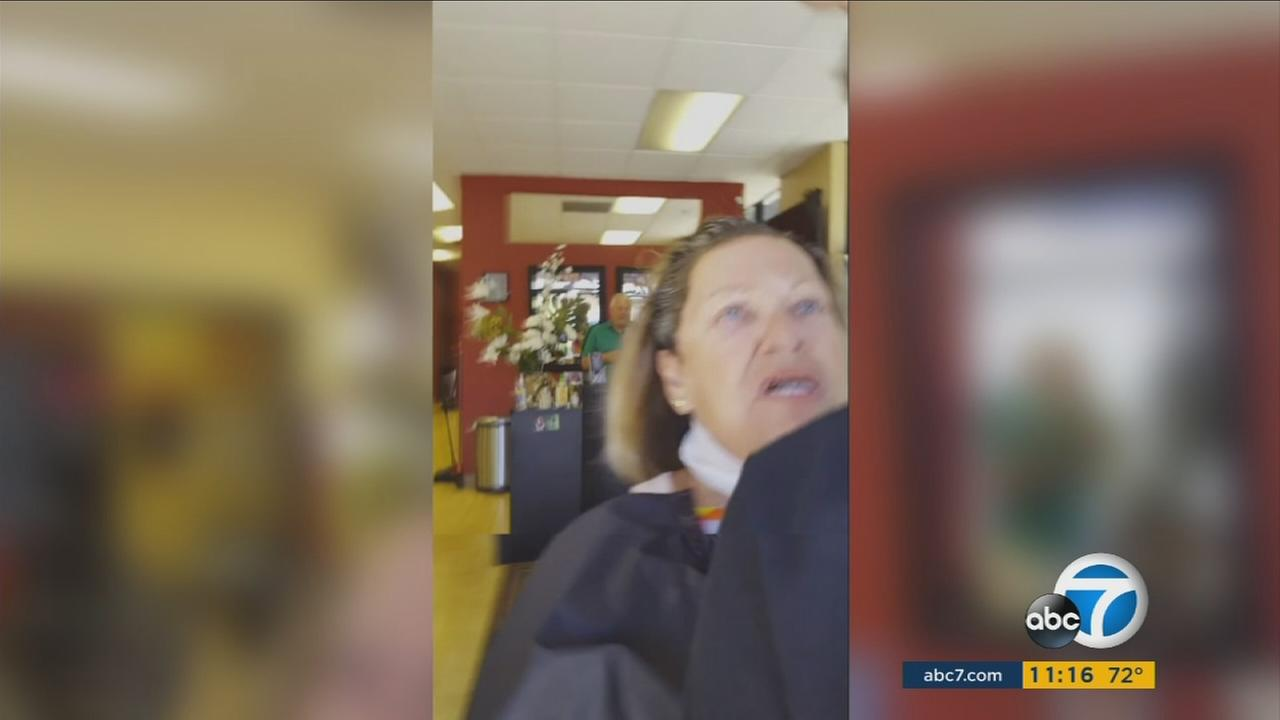 It was a bizarre scene at a hair salon in Escondido when a man went in to complain about his haircut and ask for a refund.