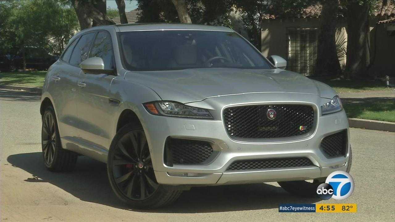 Jaguars first SUV, the F-Pace, is shown in an undated photo.