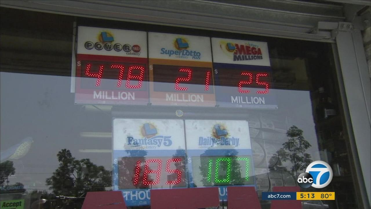 The amount of the Powerball jackpot is shown on display at a Hawthorne liquor store on Saturday, July 30, 2016.