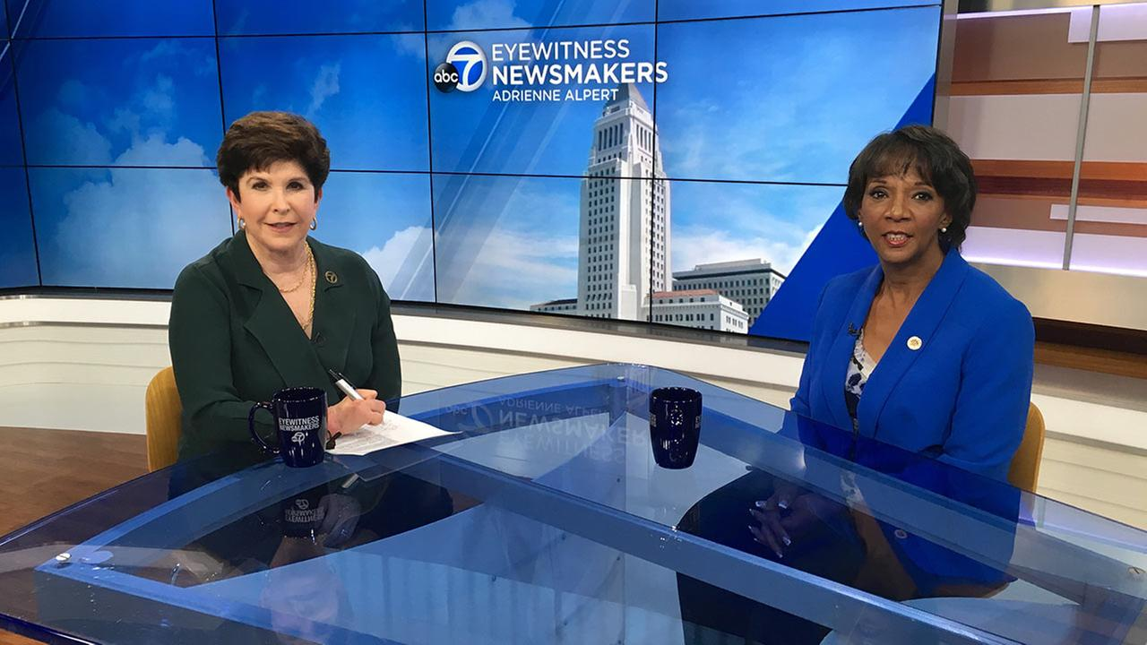 Los Angeles County District Attorney Jackie Lacey appears on Eyewitness Newsmakers.