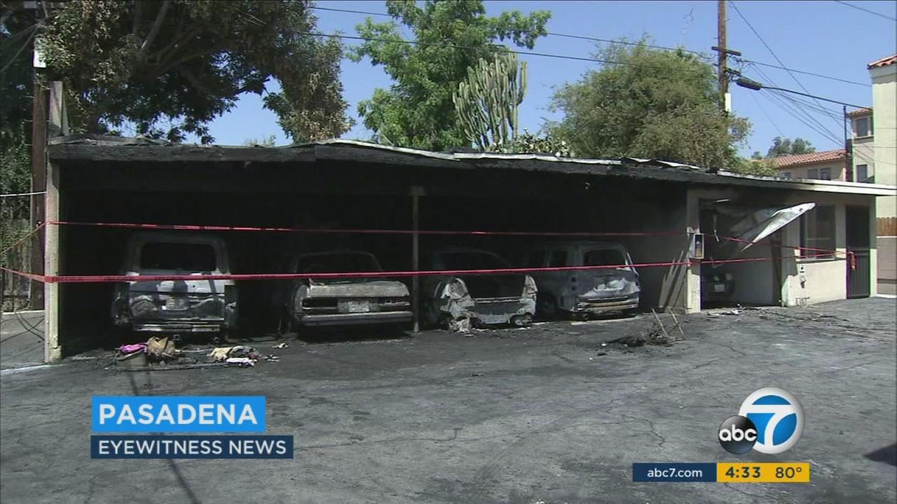An electrical malfunction in a car caused a carport fire at a Pasadena apartment complex, according to fire officials.