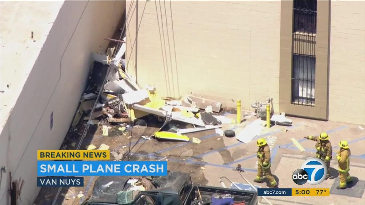 A small plane crashed near the Van Nuys Airport, killing one person on Tuesday, Aug. 2, 2016
