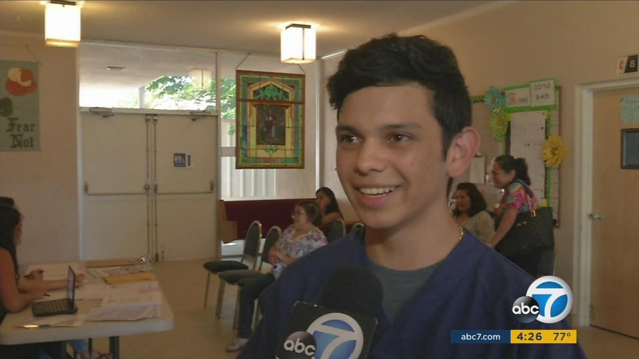 This weeks ABC7 Cool Kid is Justin Aguilar, who volunteers at a free clinic to provide medical services to low-income families in Thousand Oaks.