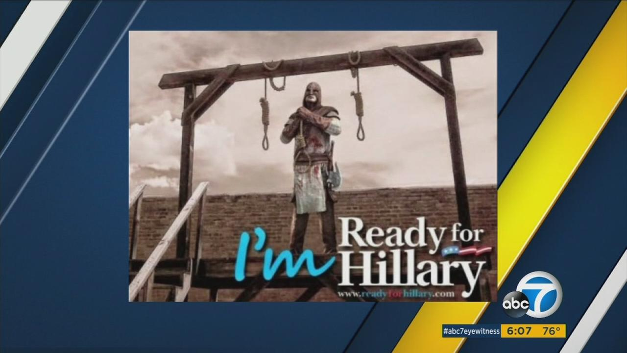 A photo featuring an executioner with Ready for Hillary written on it was tweeted out by the official Twitter account of the Riverside County Republican Partys on Aug. 3, 2016.