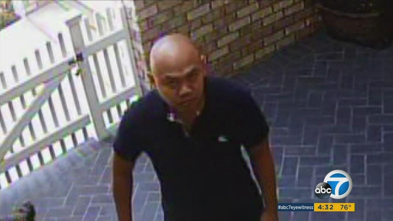 Police are looking for two men caught in surveillance video stealing packages from the same home in Orange.
