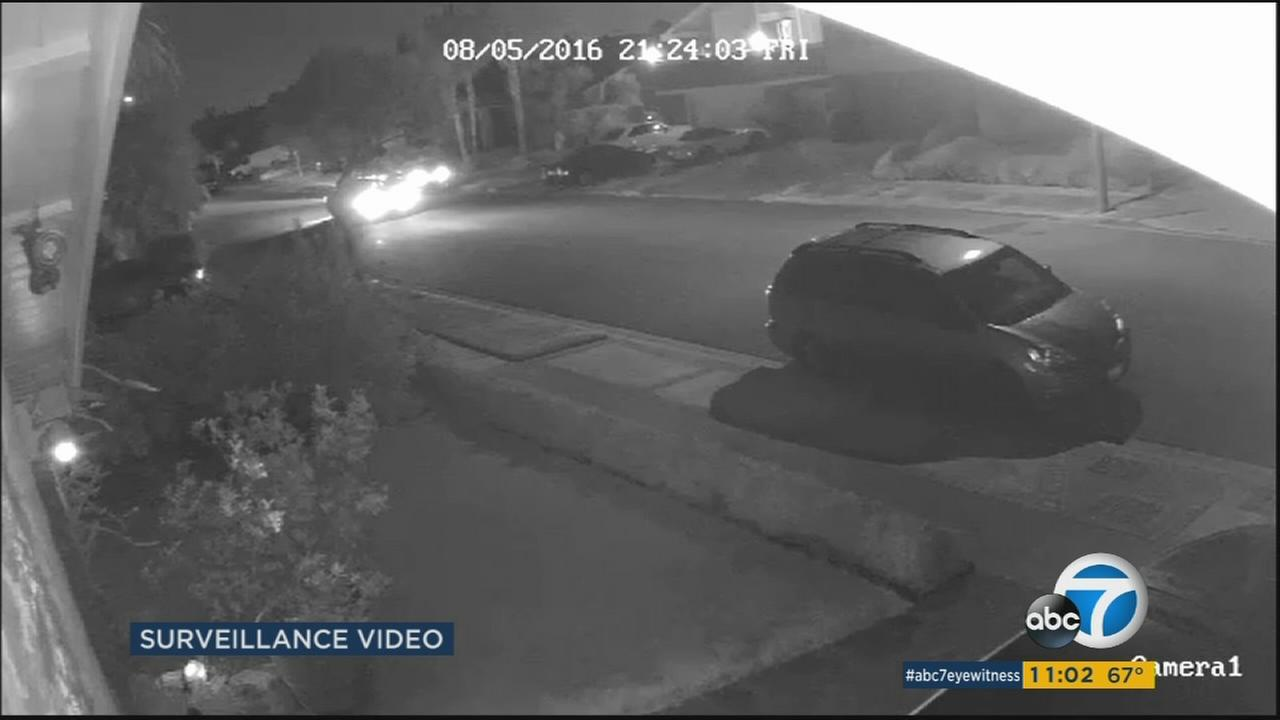 Surveillance video shows the shooting of two men in Westminster Friday night.