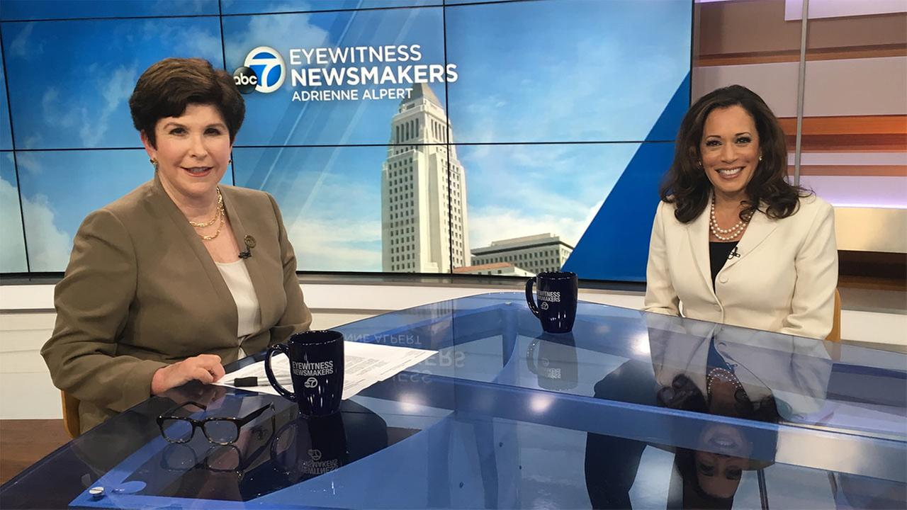 California Attorney General Kamala Harris appears on Eyewitness Newsmakers.