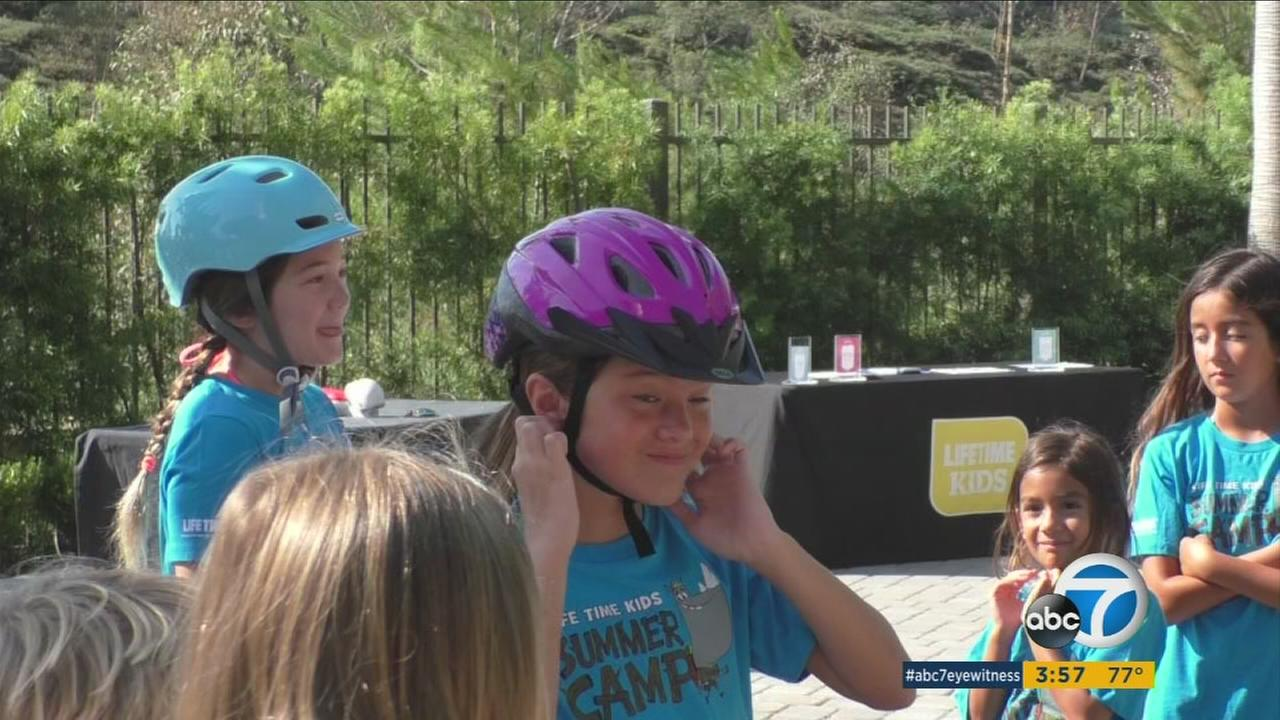 A Laguna Niguel health club offered free safety lessons for families for National Kid Safety day.