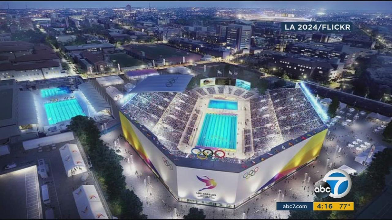 An illustration shows what the 2024 Olympics might look like in Los Angeles.
