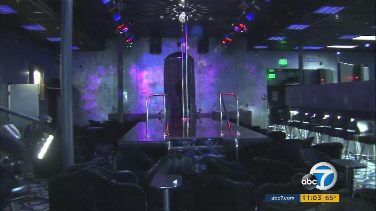 The inside of Xposed, a strip club in Canoga Park, is shown after a shooting broke out on Saturday, Aug. 20, 2016.