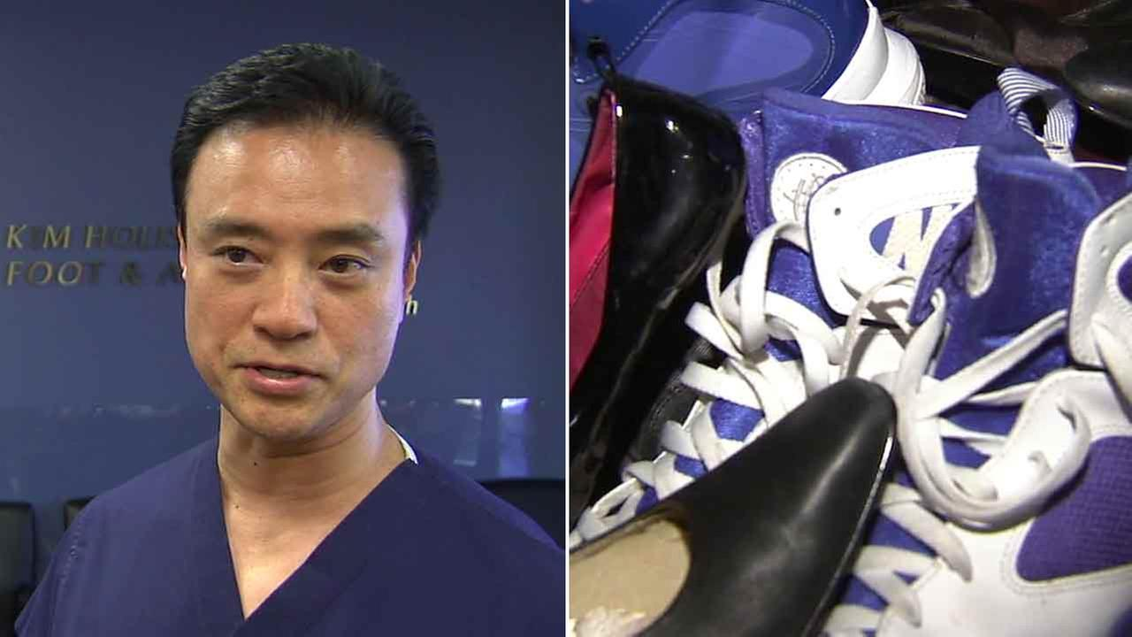 Podiatrist Dr. Don Kim has been donating shoes collected during his annual shoe drive for the past 19 years.