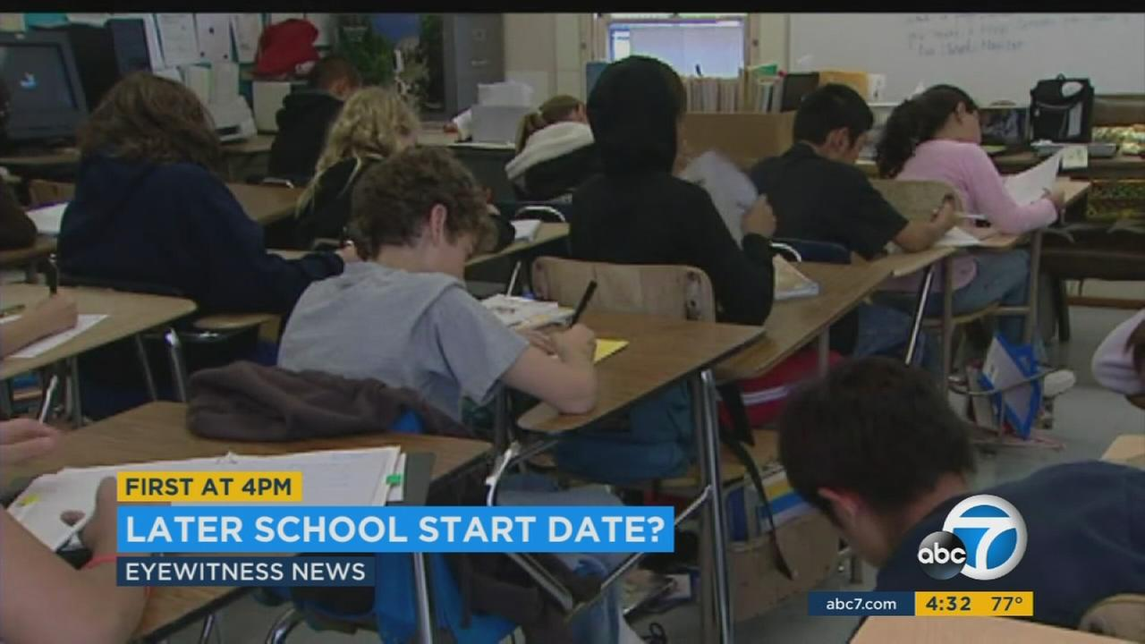Los Angeles Unified School District board members plan to discuss pushing back the school start date to after Labor Day during the next board meeting.