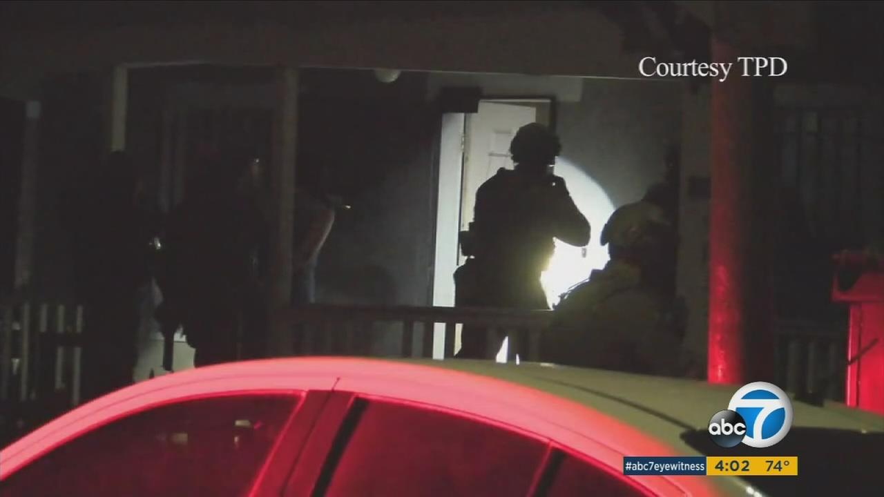 Southern California law enforcement agencies banded together to round up 15 suspects in a gang-related burglary ring that they say hit thousands of SoCal homes.